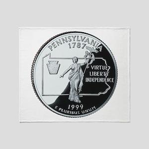 Pennsylvania Quarter Throw Blanket