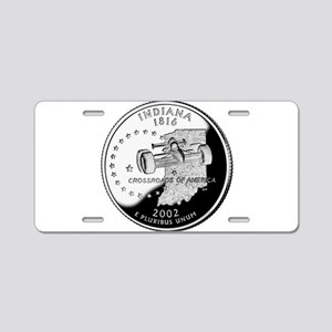 Indiana Quarter Aluminum License Plate