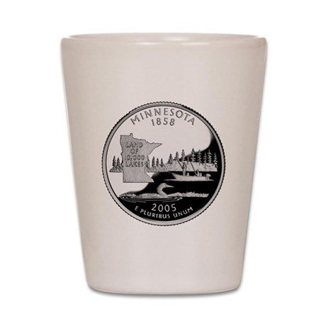 Minnesota Quarter Shot Glass