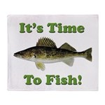 It's Time to Fish Throw Blanket