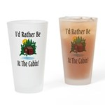 At The Cabin Drinking Glass
