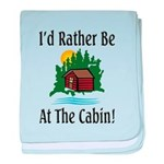 At The Cabin baby blanket