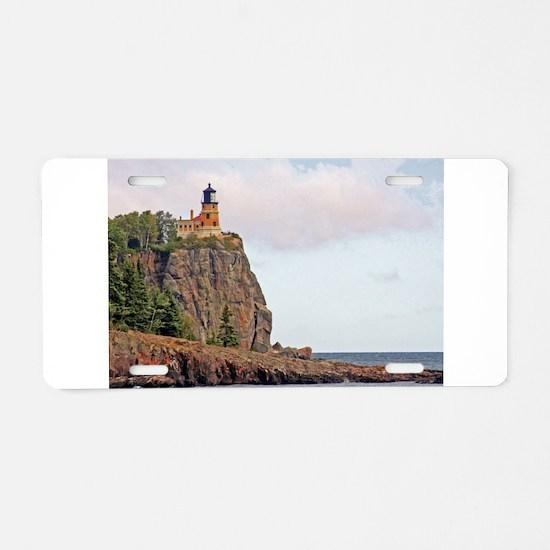 Split Rock Lighthouse Aluminum License Plate