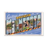 Greetings from Northern Minne Car Magnet 20 x 12