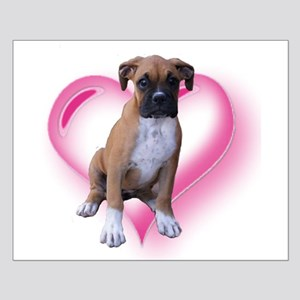 Love Boxer Puppy Small Poster