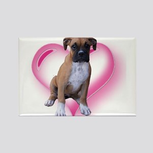 Love Boxer Puppy Rectangle Magnet
