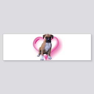 Love Boxer Puppy Sticker (Bumper)