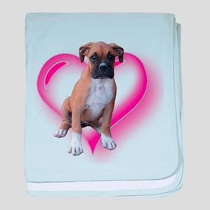 Love Boxer Puppy baby blanket