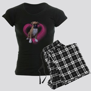 Love Boxer Puppy Women's Dark Pajamas