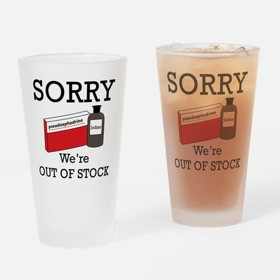 Pharmacy - Out Of Stock Drinking Glass