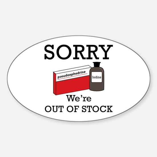 Pharmacy - Out Of Stock Sticker (Oval)