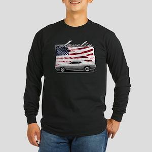 AMC AMX Javelin on USA flag Long Sleeve T-Shirt