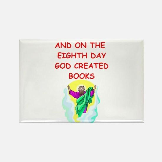 books Rectangle Magnet