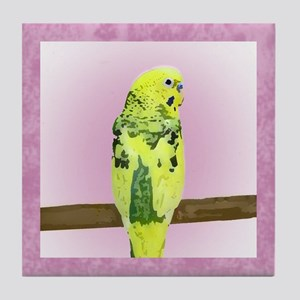 Pied Budgie Tile Coaster