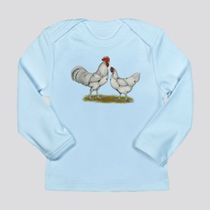 Austra White Chickens Long Sleeve Infant T-Shirt