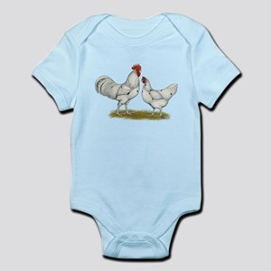 Austra White Chickens Infant Bodysuit
