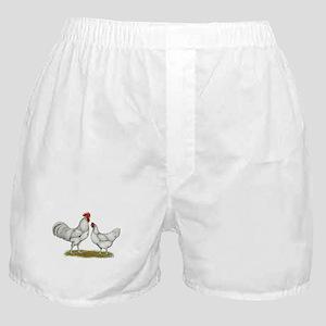 Austra White Chickens Boxer Shorts