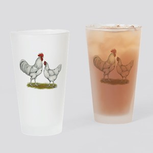 Austra White Chickens Drinking Glass