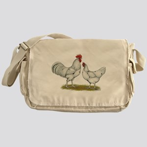 Austra White Chickens Messenger Bag