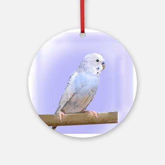 Blue Budgie Ornament (Round)