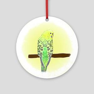 Yellow Budgie Ornament (Round)
