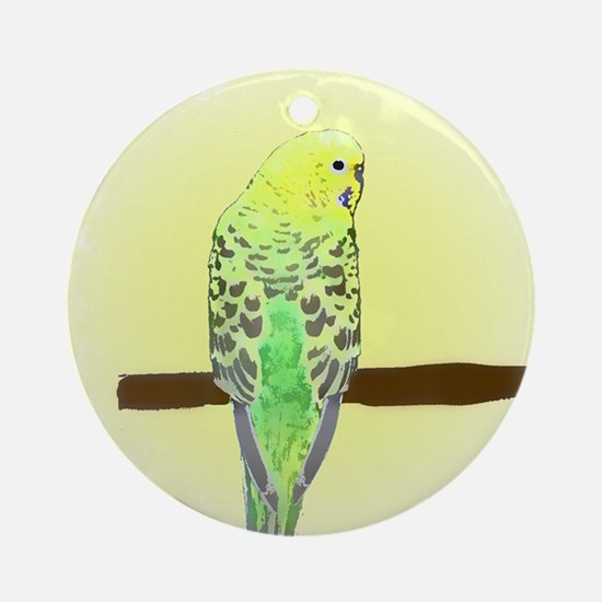 Yellow Budgie Ornament (Round)