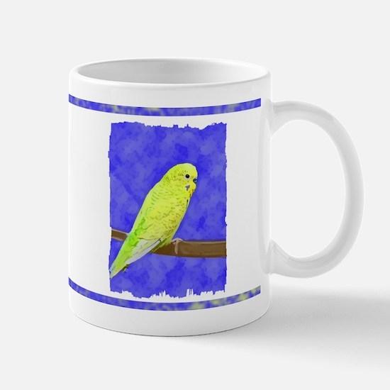 Male Yellow Budgie Mug