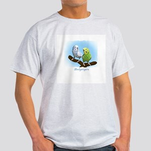 Budgie Pair Ash Grey T-Shirt