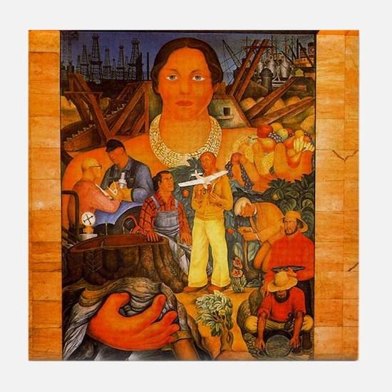 Diego Rivera California Art Tile Coaster