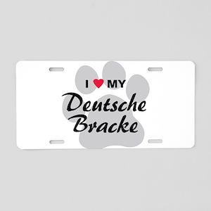 Love My Deutsche Bracke Aluminum License Plate