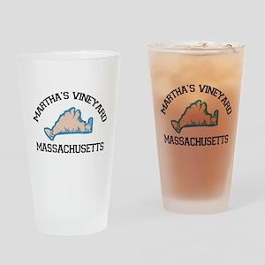 Martha's Vineyard MA - Map Design. Drinking Glass