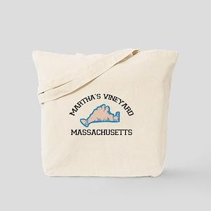 Martha's Vineyard MA - Map Design. Tote Bag