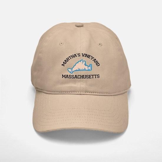 Martha's Vineyard MA - Map Design. Baseball Baseball Cap