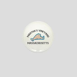 Martha's Vineyard MA - Map Design. Mini Button