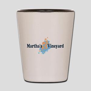 Martha's Vineyard MA - Seashells Design. Shot Glas