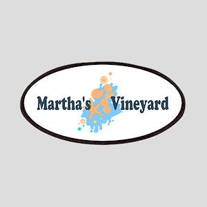 Martha's Vineyard MA - Seashells Design. Patches