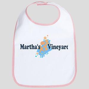 Martha's Vineyard MA - Seashells Design. Bib