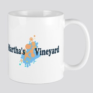 Martha's Vineyard MA - Seashells Design. Mug