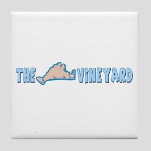 Martha's Vineyard MA - Map Design. Tile Coaster