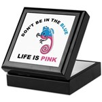 Life Is Pink Keepsake Box
