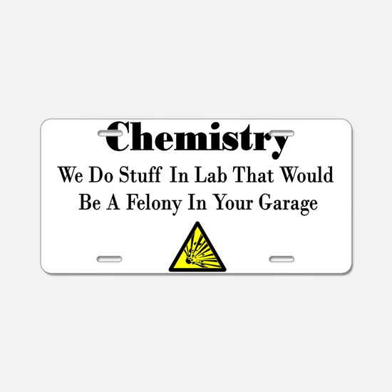 Cute Chemistry Aluminum License Plate