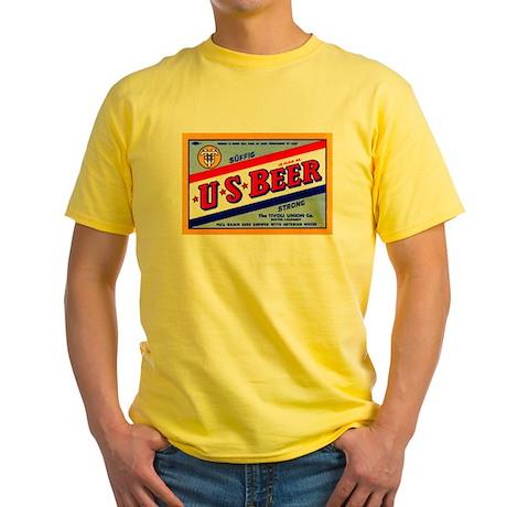 Colorado Beer Label 1 Yellow T-Shirt