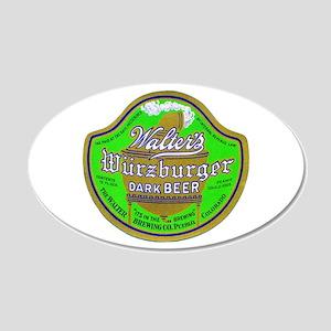 Colorado Beer Label 2 22x14 Oval Wall Peel