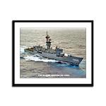 USS MARVIN SHIELDS Framed Panel Print