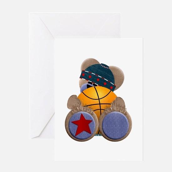 Basketball TeddyBear Greeting Card