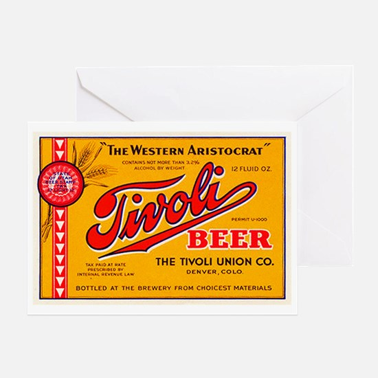 Colorado Beer Label 4 Greeting Card