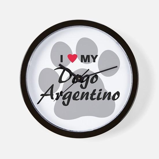 Dogo Argentino Wall Clock