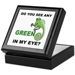 Green In My Eye Keepsake Box