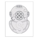 Salvage Diver Small Poster