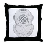 Salvage Diver Throw Pillow